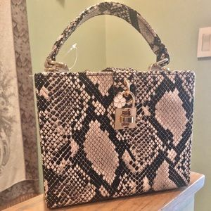 Handbags - Snake print boxy bag, NWOT